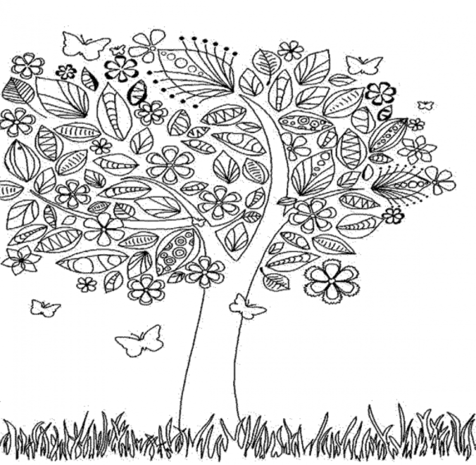 Fresh Incredible Fall Landscape Coloring Page with Fall Coloring ...