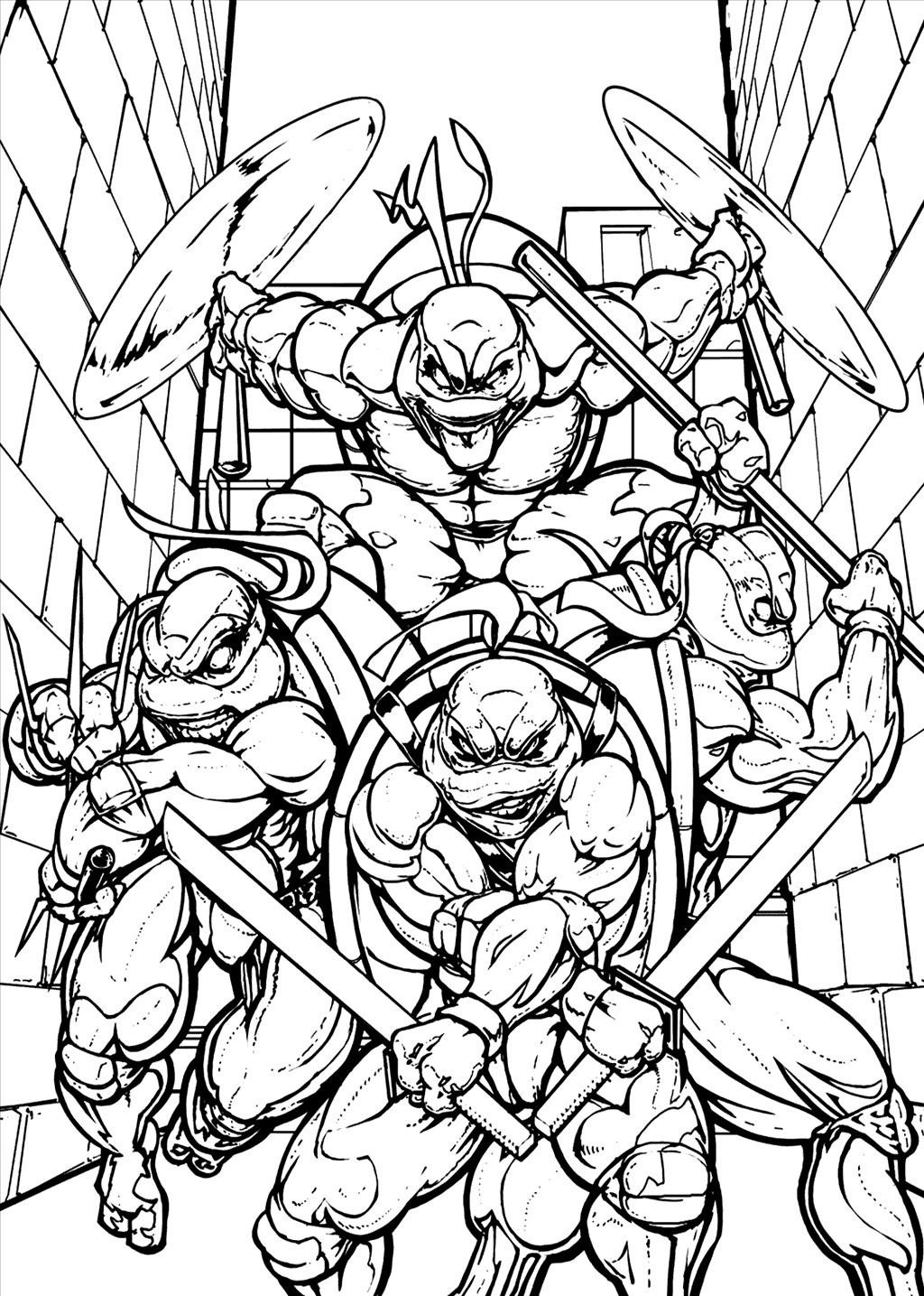 Teenage Ninja Turtle Coloring Pages Download | Free Coloring Sheets