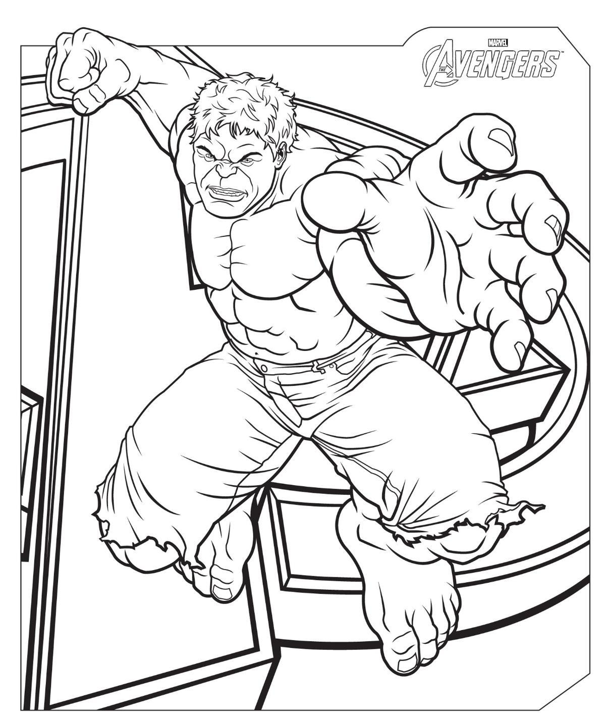 Good Avengers Coloring Pages Free Printable Download