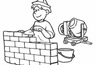 Wall Coloring Pages - Great Occupations Coloring Pages Building Construction Gallery