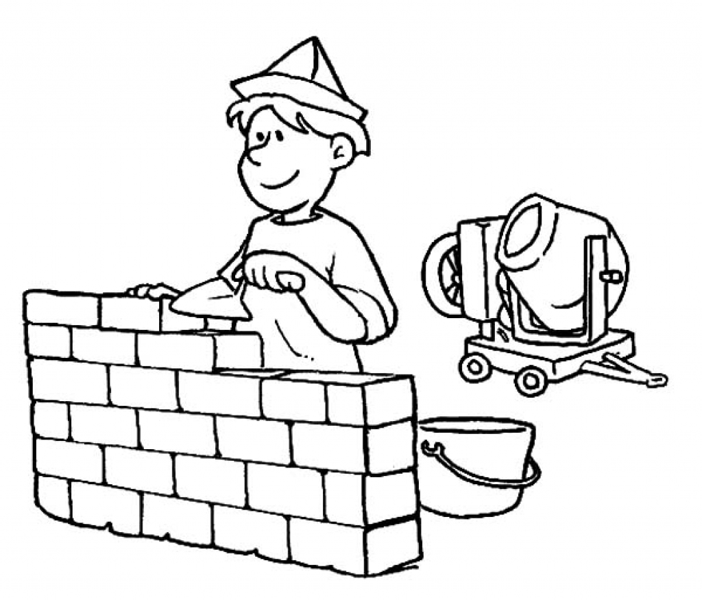 Great Occupations Coloring Pages Building Construction Gallery ...