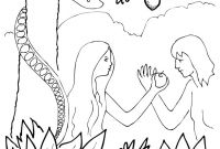 Adam and Eve Coloring Pages - Great Sunday School Creation Coloring Page with Adam and Eve Free Download