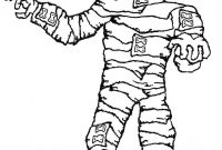 Mummy Coloring Pages - Halloween Mummy Coloring Page Collection