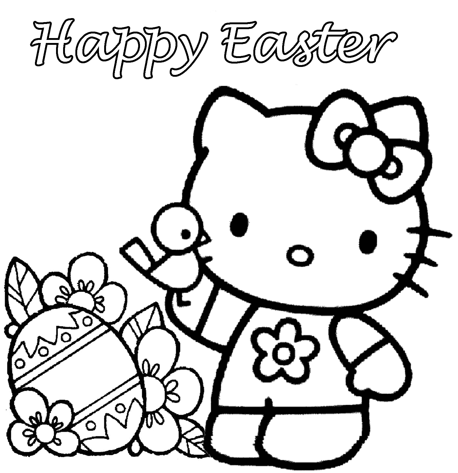Free Easter Coloring Pages Printable Five Eggs Page for Kids ...