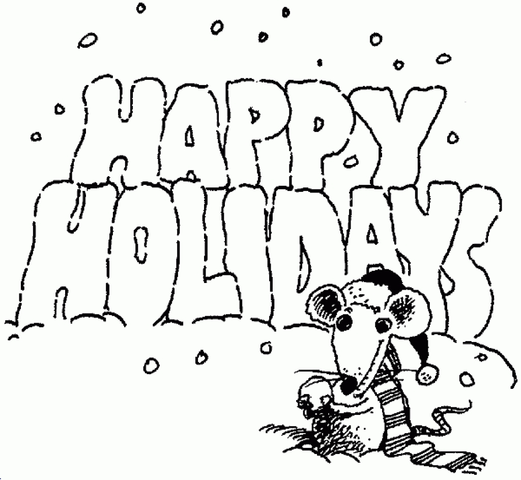 Printable Holiday Coloring Pages Download Free Coloring