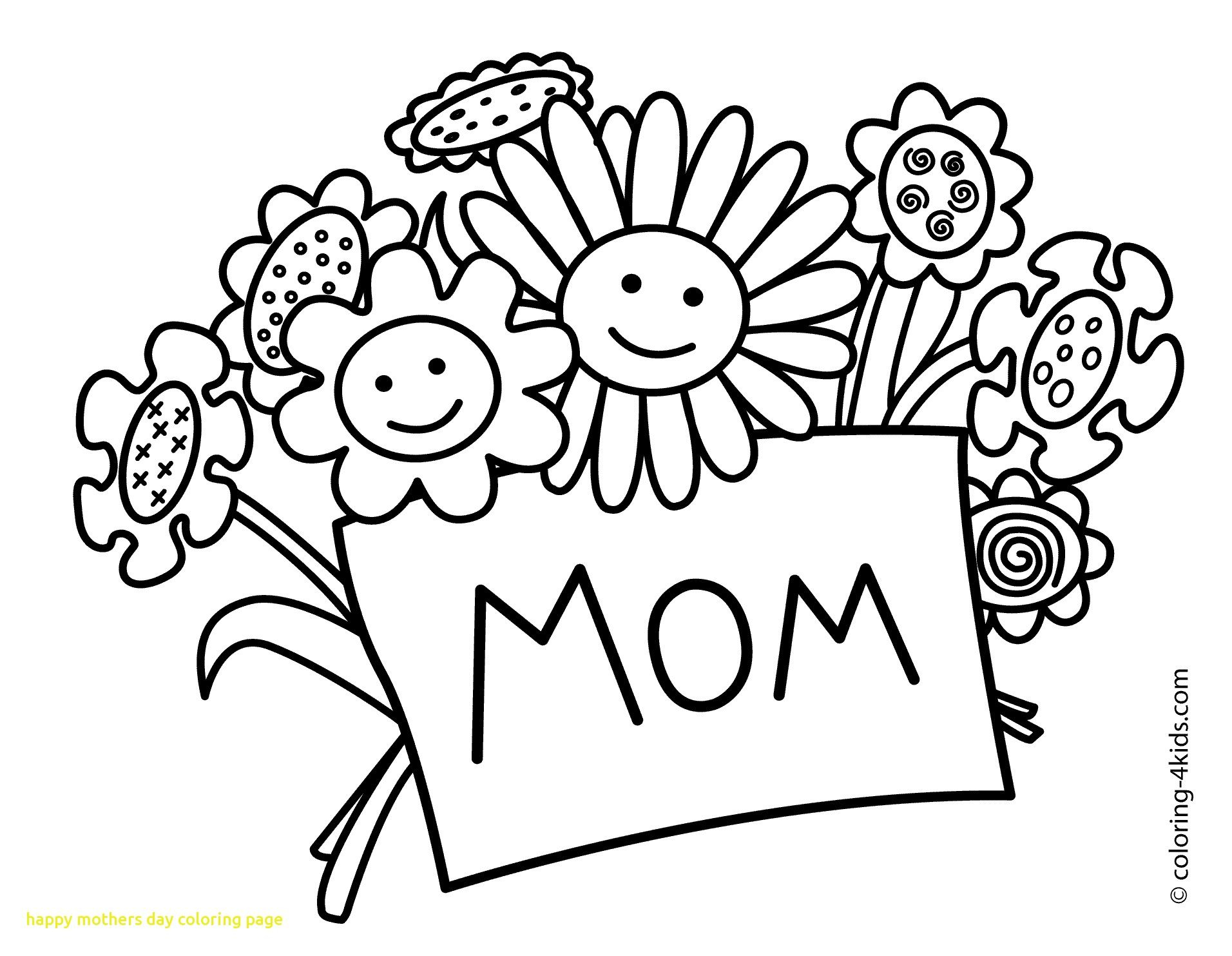 Mothers Day Coloring Pages Kids Download 2a - Free For Children