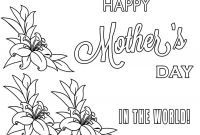Mothers Day Coloring Pages Kids - Happy Mothers Day Coloring Pages Printable Coloringstar Best Gallery