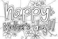 Mothers Day Coloring Pages Kids - Happy Mothers Day Coloring Pages to Color Best Design for Collection