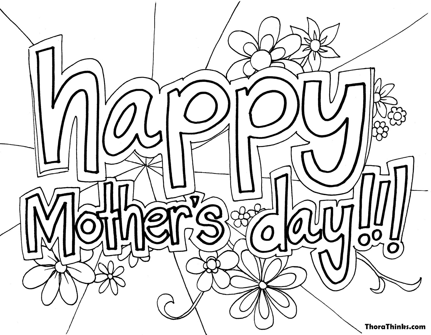Mothers Day Coloring Pages Kids Download 20l - Free Download