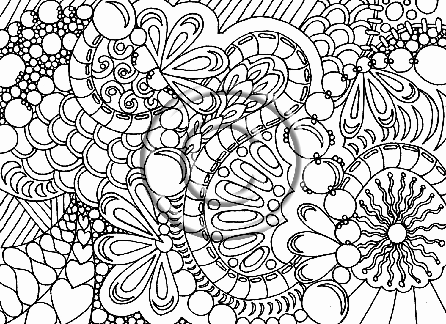 Abstract Design Coloring Pages Patterns Difficult Colouring Pages ...