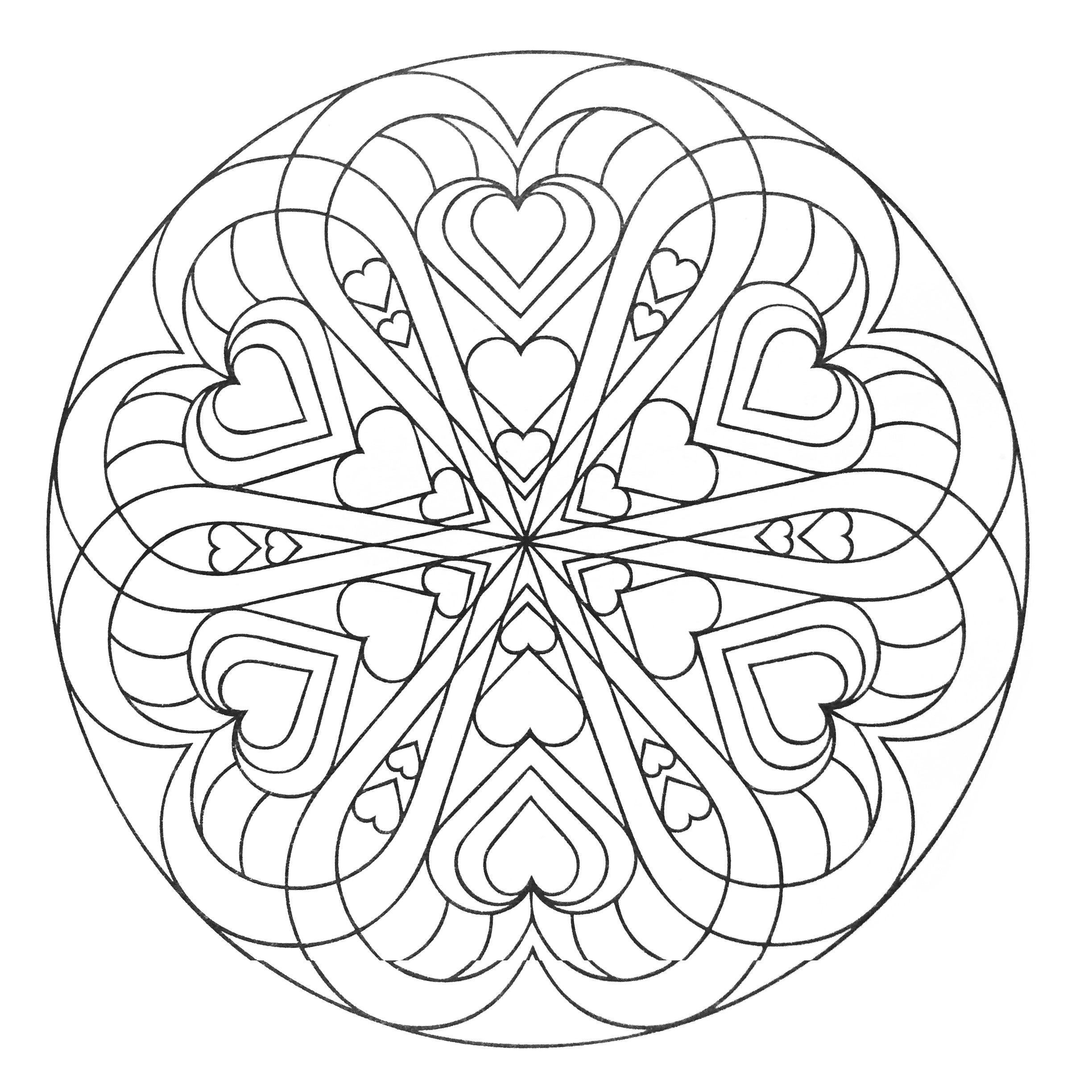 Heart Mandala Coloring Pages Printable Get Coloring Pages Download Download Of Modern Intricate Mandala Coloring Pages Coloring for Good Mandala to Print