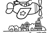 Hello Kitty Free Printable Coloring Pages - Hello Kitty Airplain – Coloring Pages for Kids to Print Free Printable