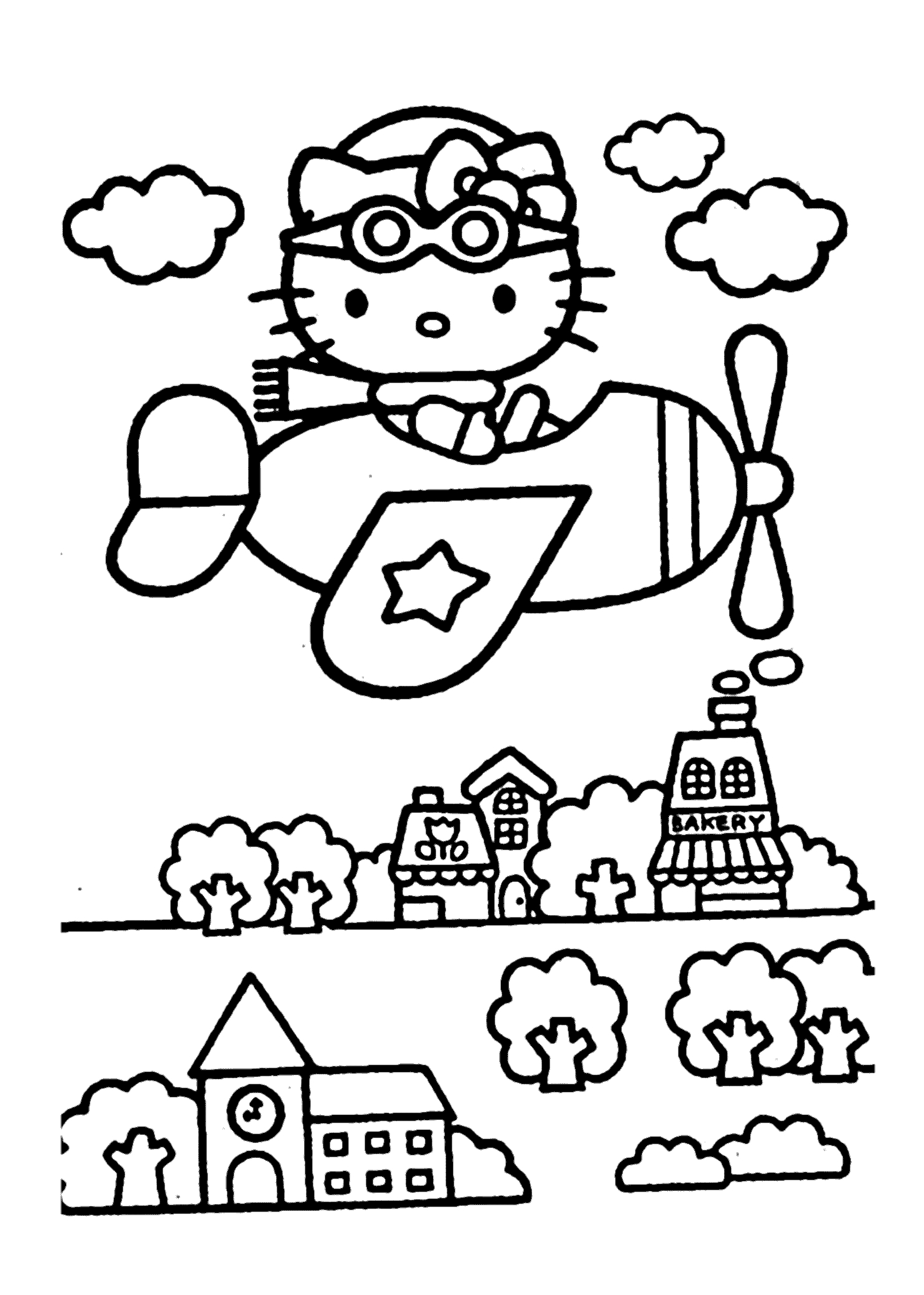 Hello Kitty Airplain – Coloring Pages for Kids to Print Free Printable Of Proven Coloring Pages to Print Hello Kitty 2895 Unknown Printable