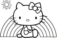 Hello Kitty Free Printable Coloring Pages - Hello Kitty Rainbow Coloring Page Free Printable Pages Book and Collection