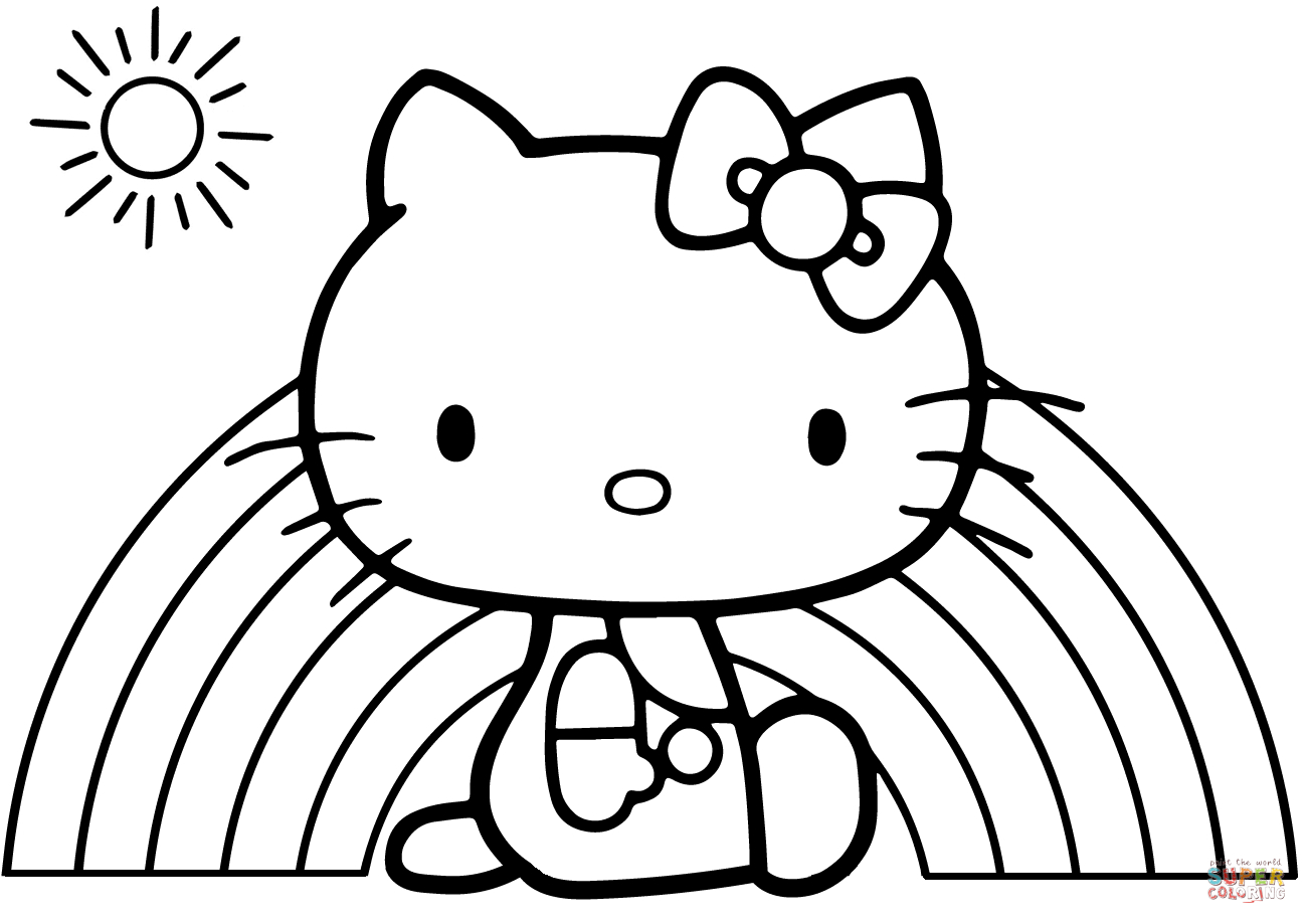 Hello Kitty Rainbow Coloring Page Free Printable Pages Book and Collection Of Proven Coloring Pages to Print Hello Kitty 2895 Unknown Printable
