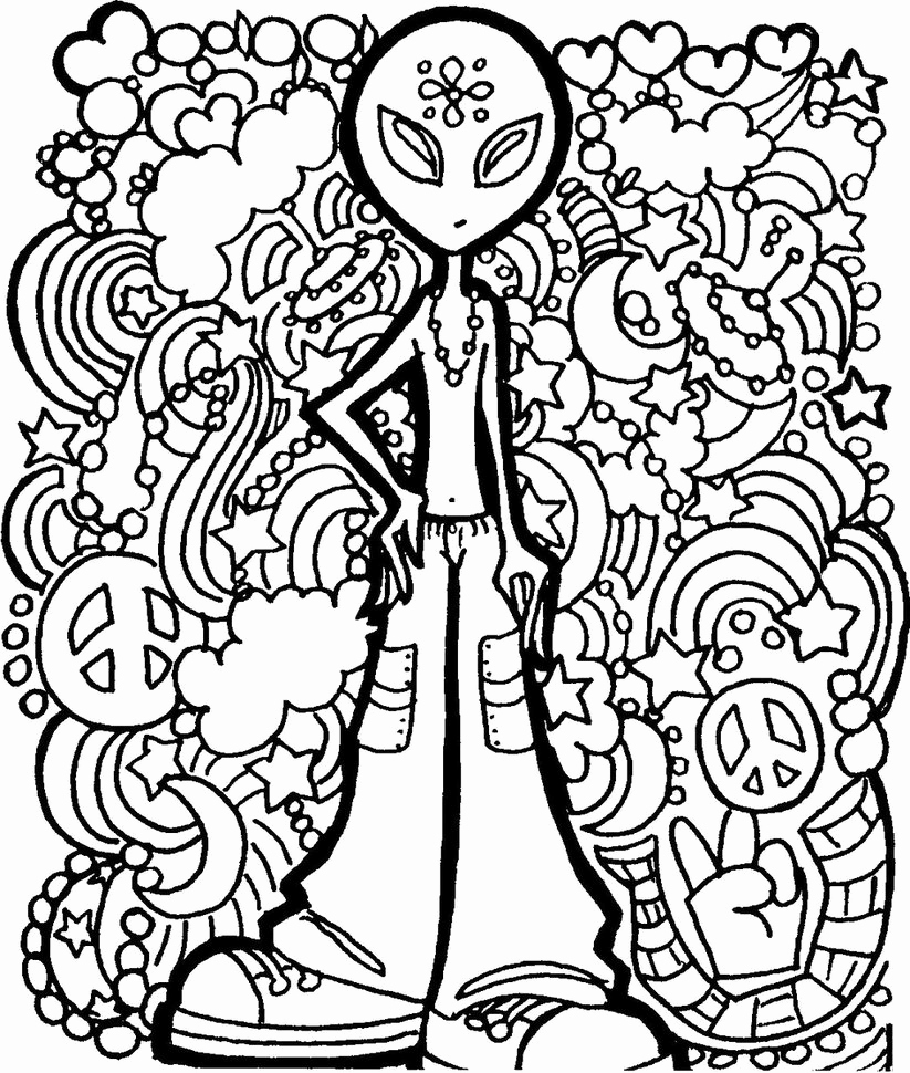 Hippie Coloring Pages Pics Hippie Custom Coloring Book Coloring Book ...