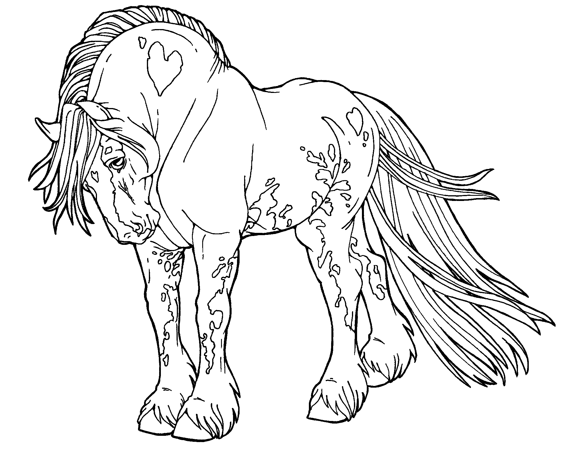 Coloring Pages Of Horses - Horse Detailed Coloring Pages Gallery