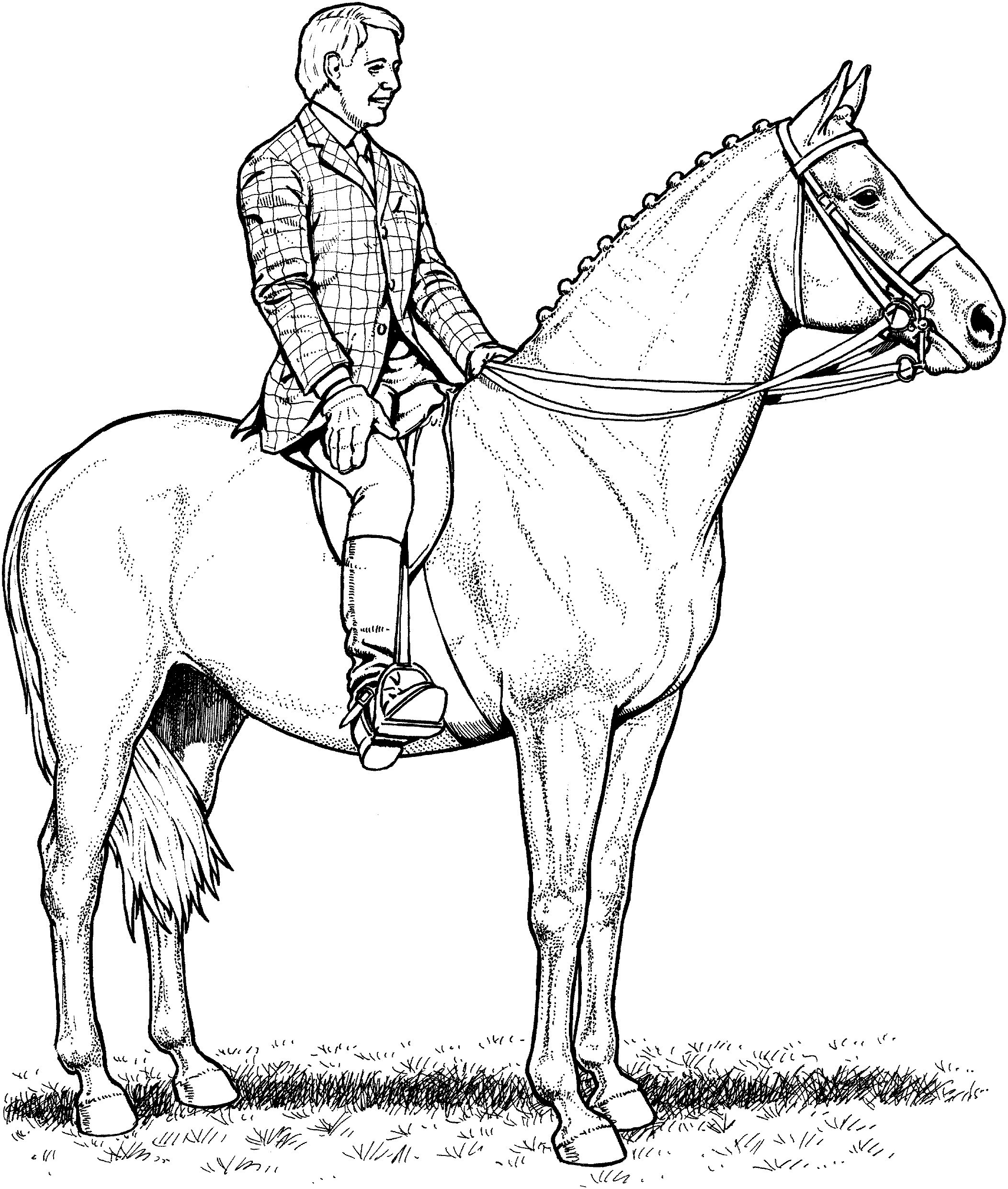Horse Drawing Kids at Getdrawings – Fun Time to Print Of Sturdy Coloring Page A Horse Pages Horses R 3353 Unknown Download