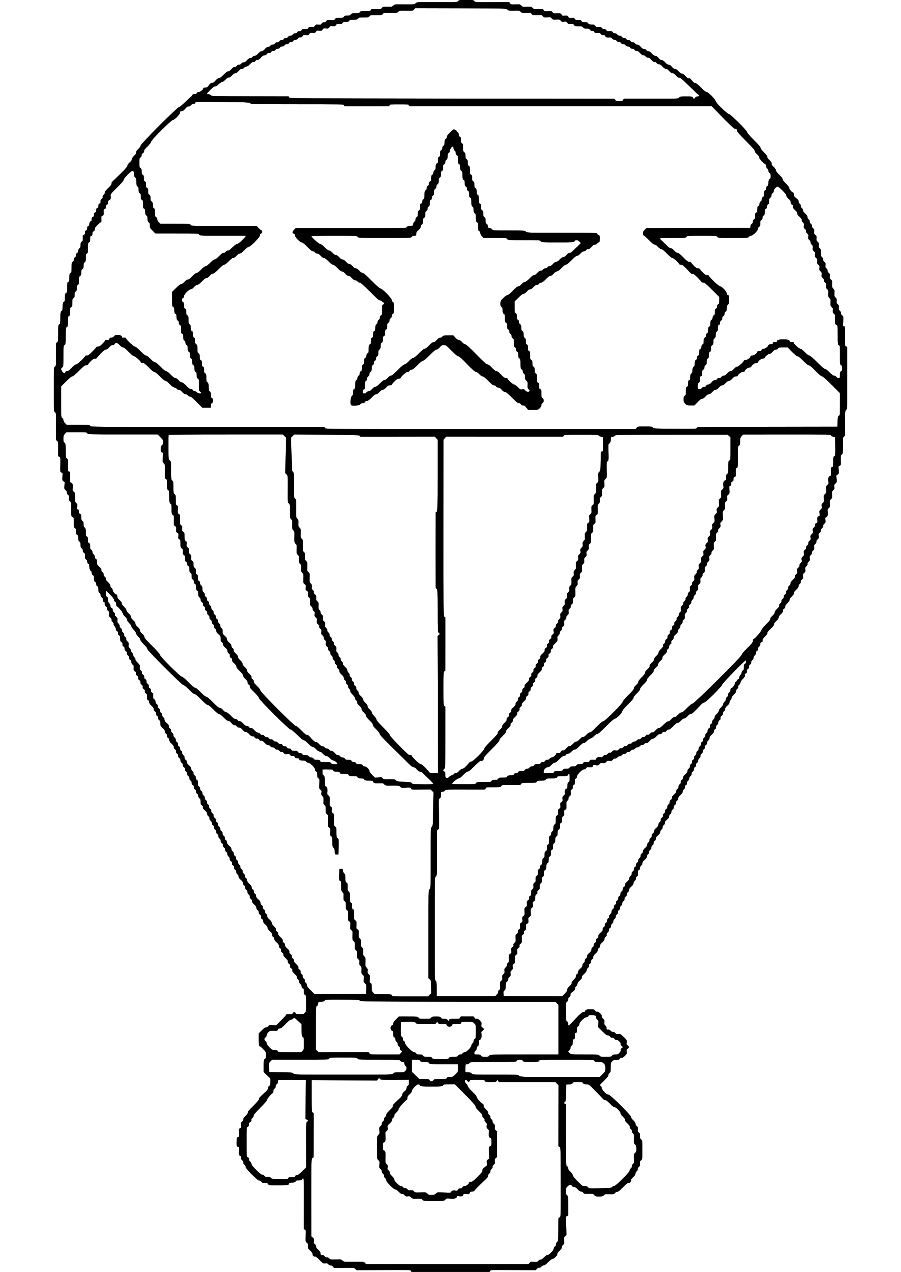 Hot Air Balloon 16 Transportation U2013 Printable Coloring Pages Printable Of Hot  Air Balloon Template Printable