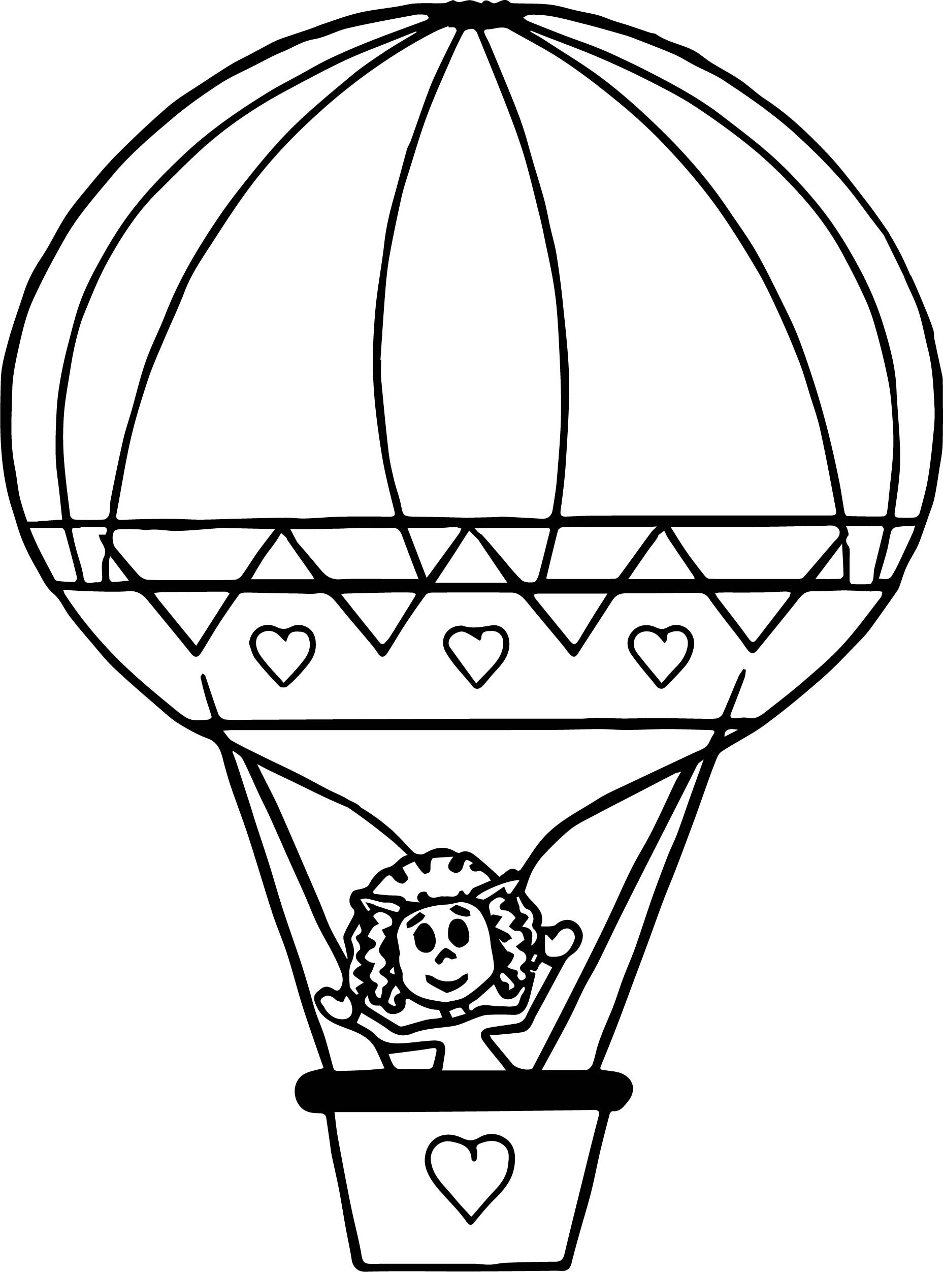Hot Air Balloon Coloring Page Bertmilne Download Of Hot Air Balloon Coloring Page Collection