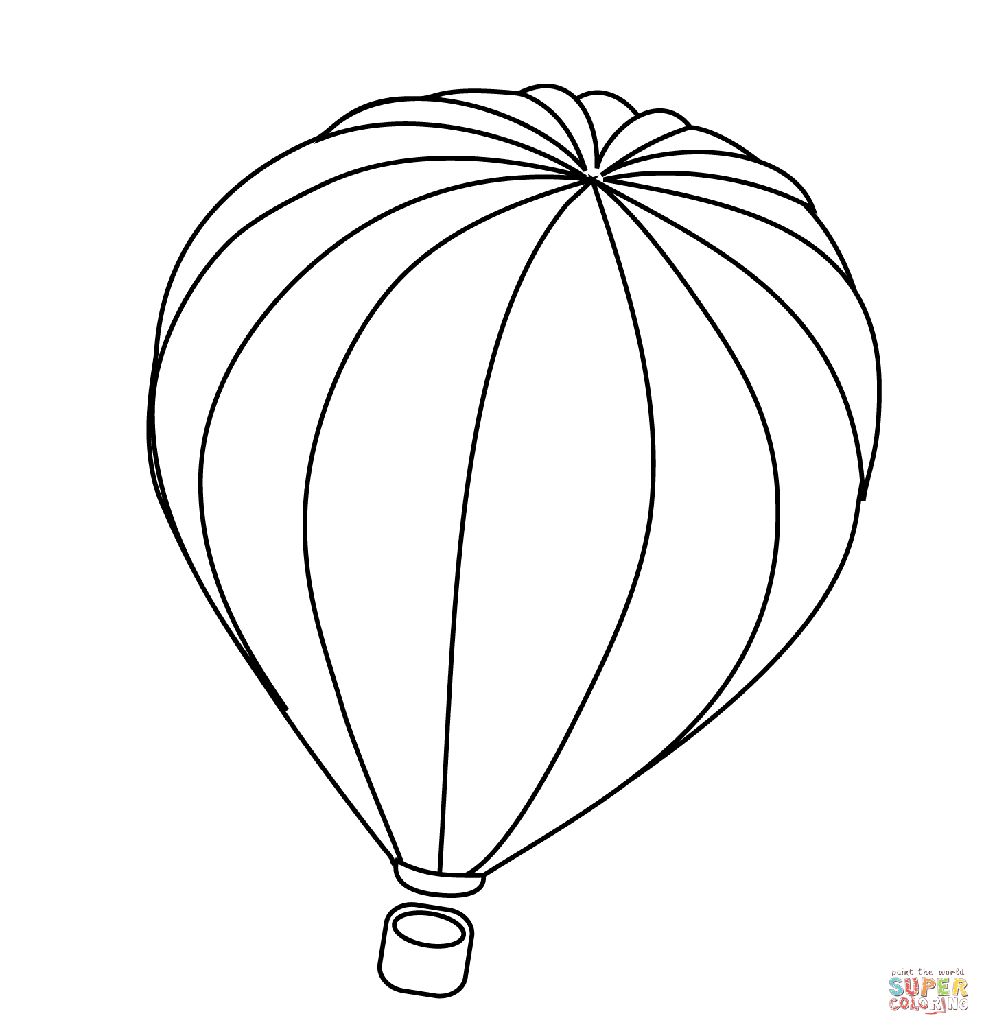 Hot Air Balloon Coloring Pages Printable 4t - Free For Children