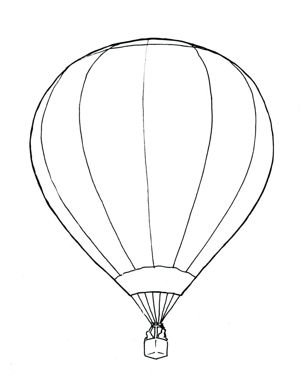 Hot Air Balloon Coloring Pages Collection Download Of Hot Air Balloon Coloring Page Collection