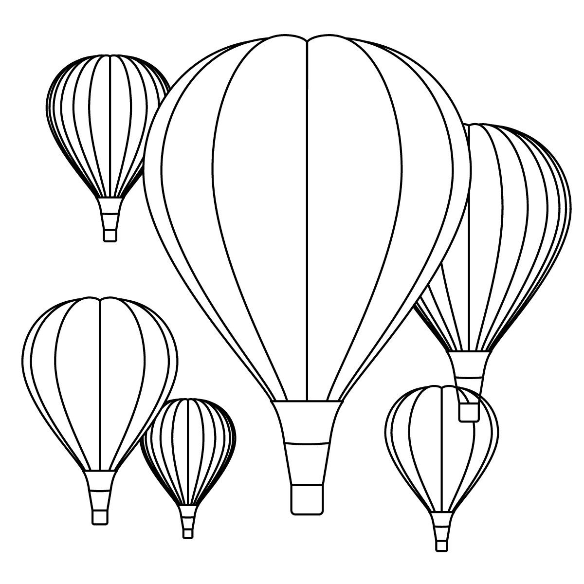 Hot Air Balloon Coloring Pages Download Of Hot Air Balloon Coloring Page Collection