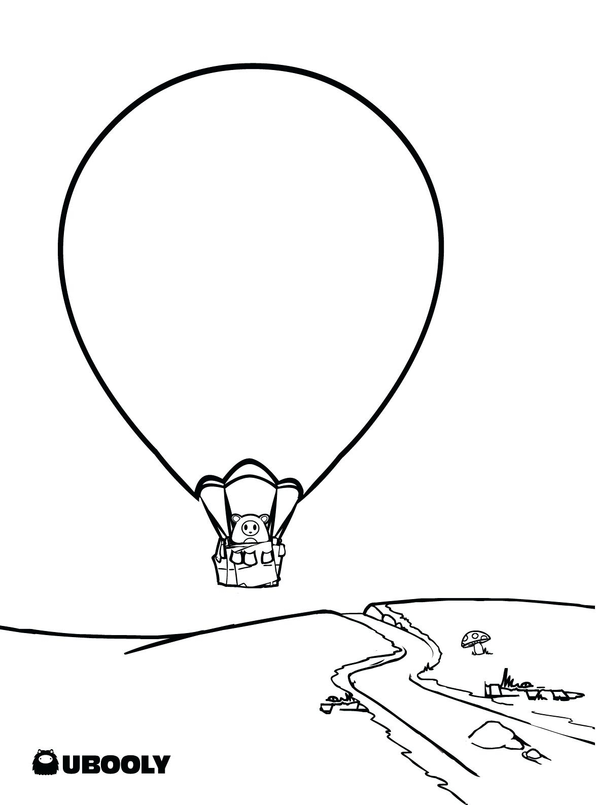 Hot Air Balloon Coloring Pages Printable 17o - Free For kids
