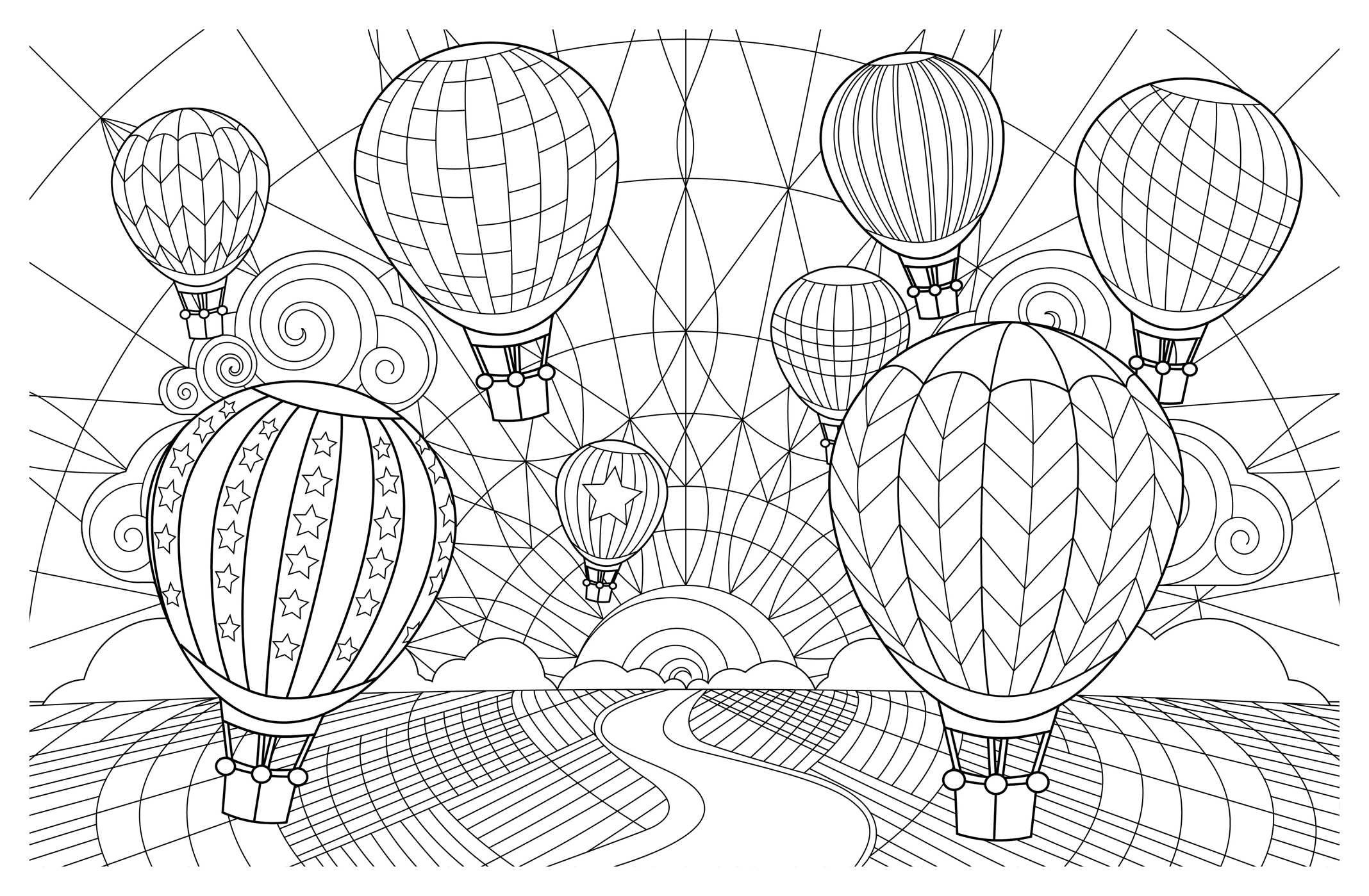 Hot Air Balloon Coloring Sheets New Balloon Coloring Pages as Collection Of Hot Air Balloon Coloring Page Collection