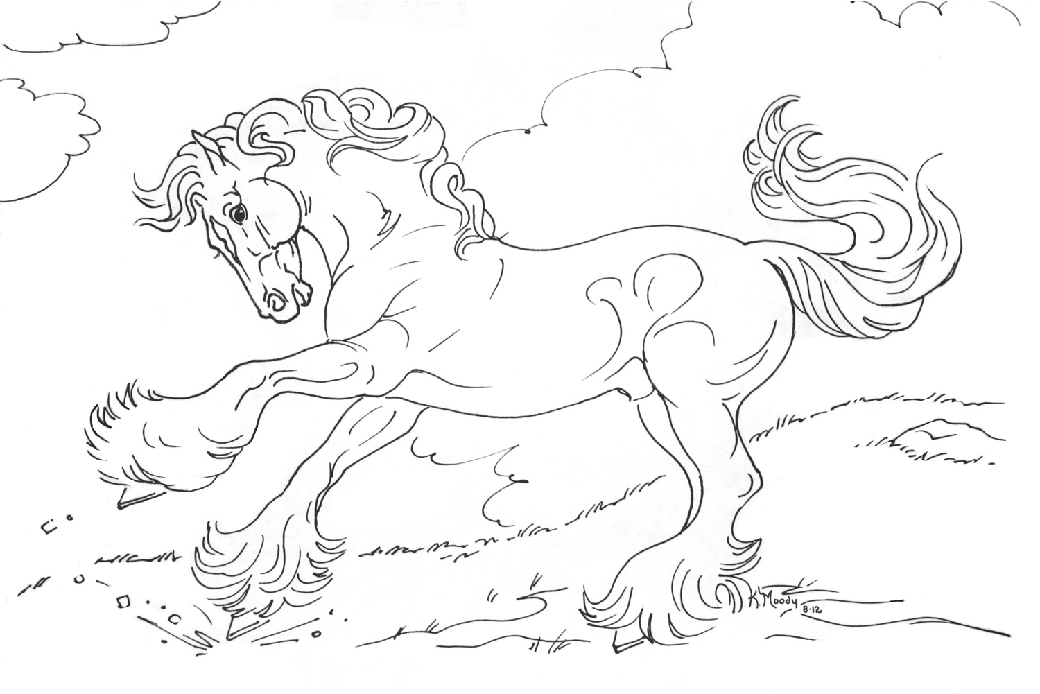 Huge Gift Horse Colouring to Print Coloring Pages for Free Download Of Horse Detailed Coloring Pages Gallery