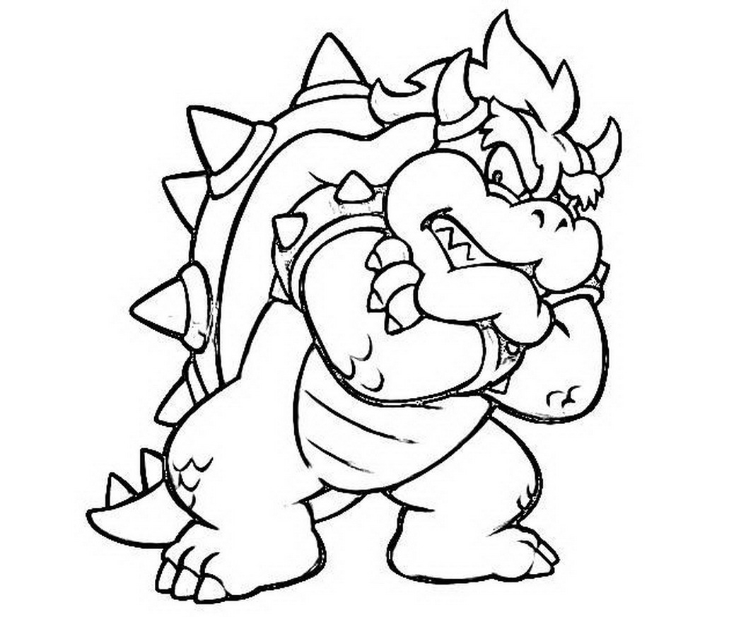 Hurry Bowser Coloring Page Pages Gallery Of Toad Mario Drawing at Getdrawings Gallery