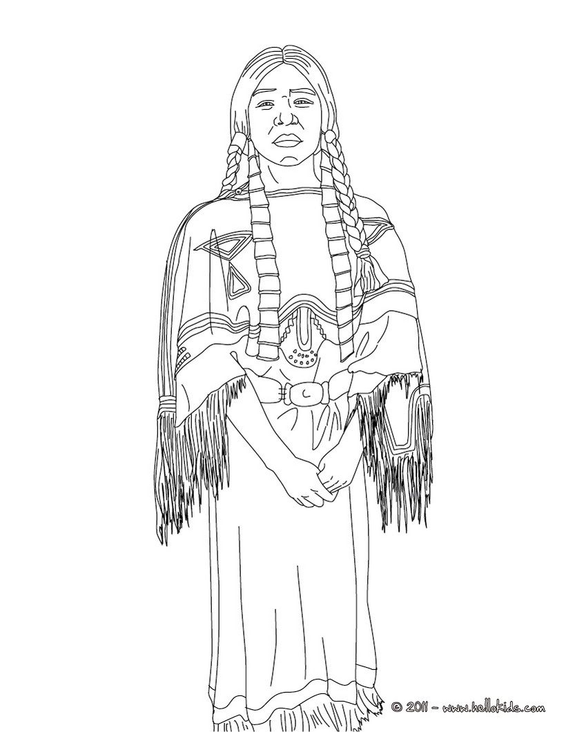 Icolor Gallery Of Sacagawea Coloring Page to Print