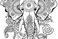 Elephant Mandala Coloring Pages - Imagep Pid=5499 Collection