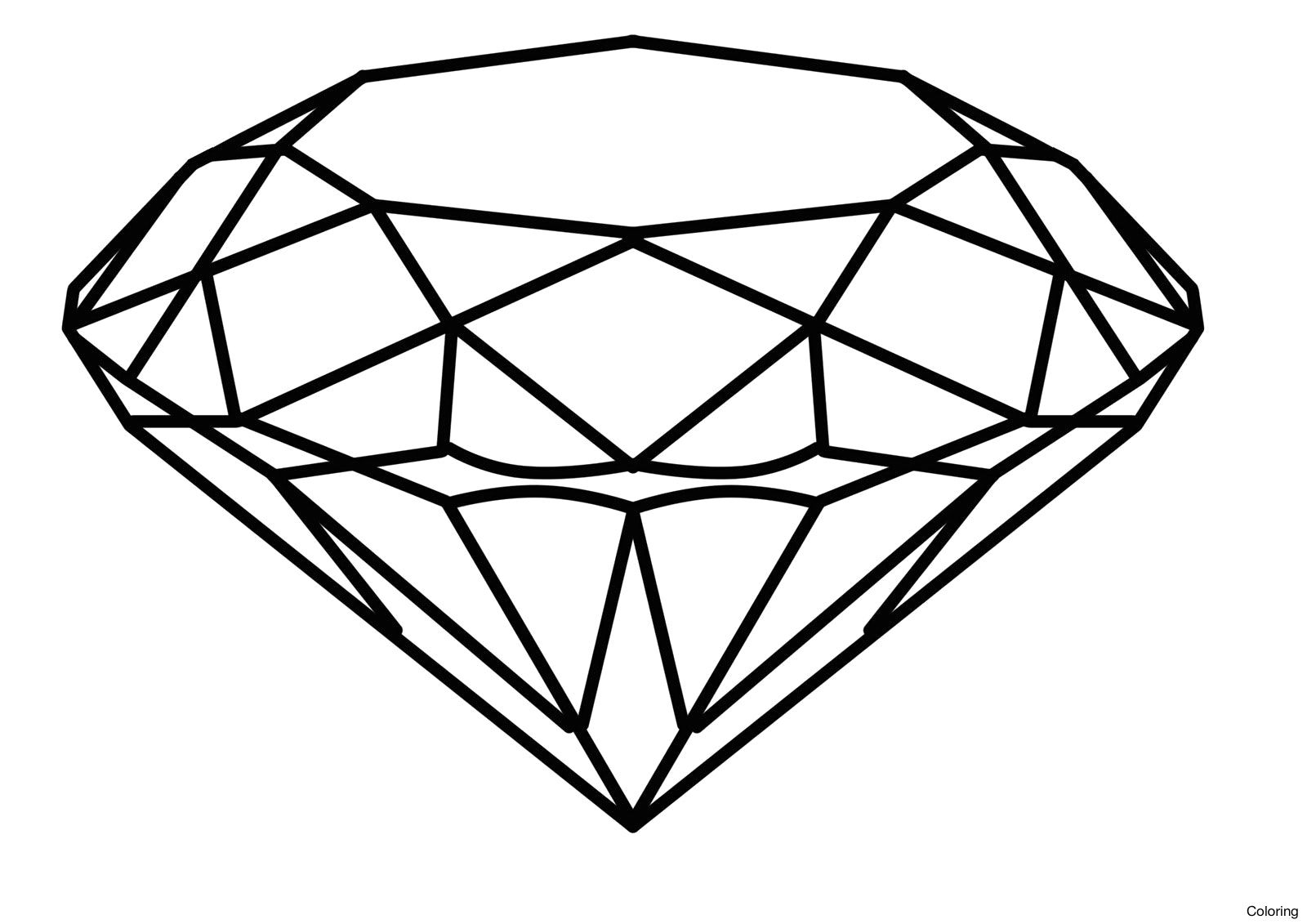 Diamond Coloring Pages Gallery 12k - Save it to your computer
