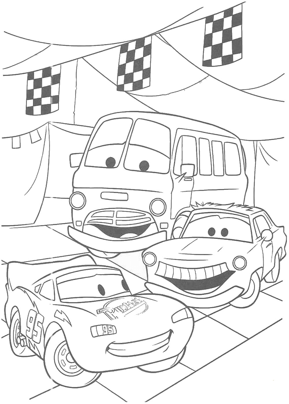 In Cars Coloring Pages From the 2 Disney Movies – Fun Time Collection Of Car Coloring Pages Disney Cars the Movie to Print Grig3 Download