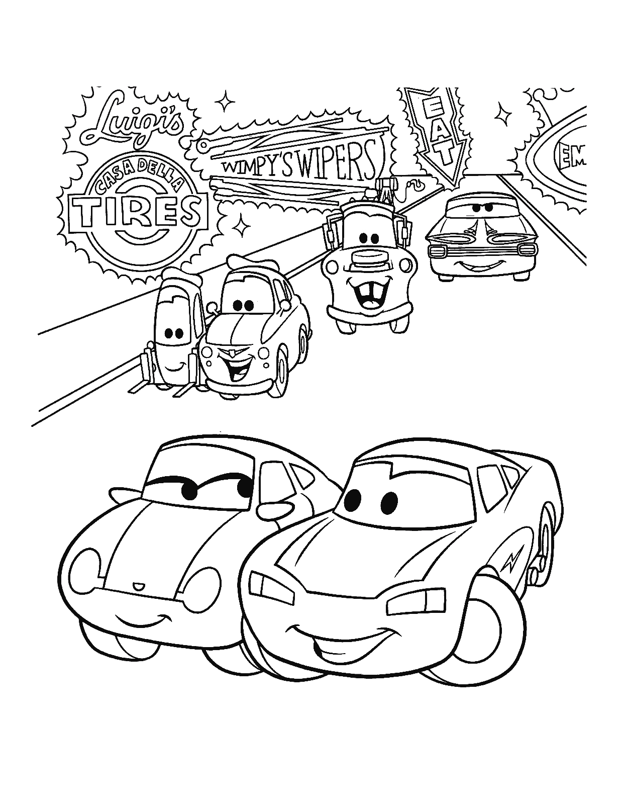 In Cars Coloring Pages From the 2 Disney Movies – Fun Time Gallery Of Car Coloring Pages Disney Cars the Movie to Print Grig3 Download
