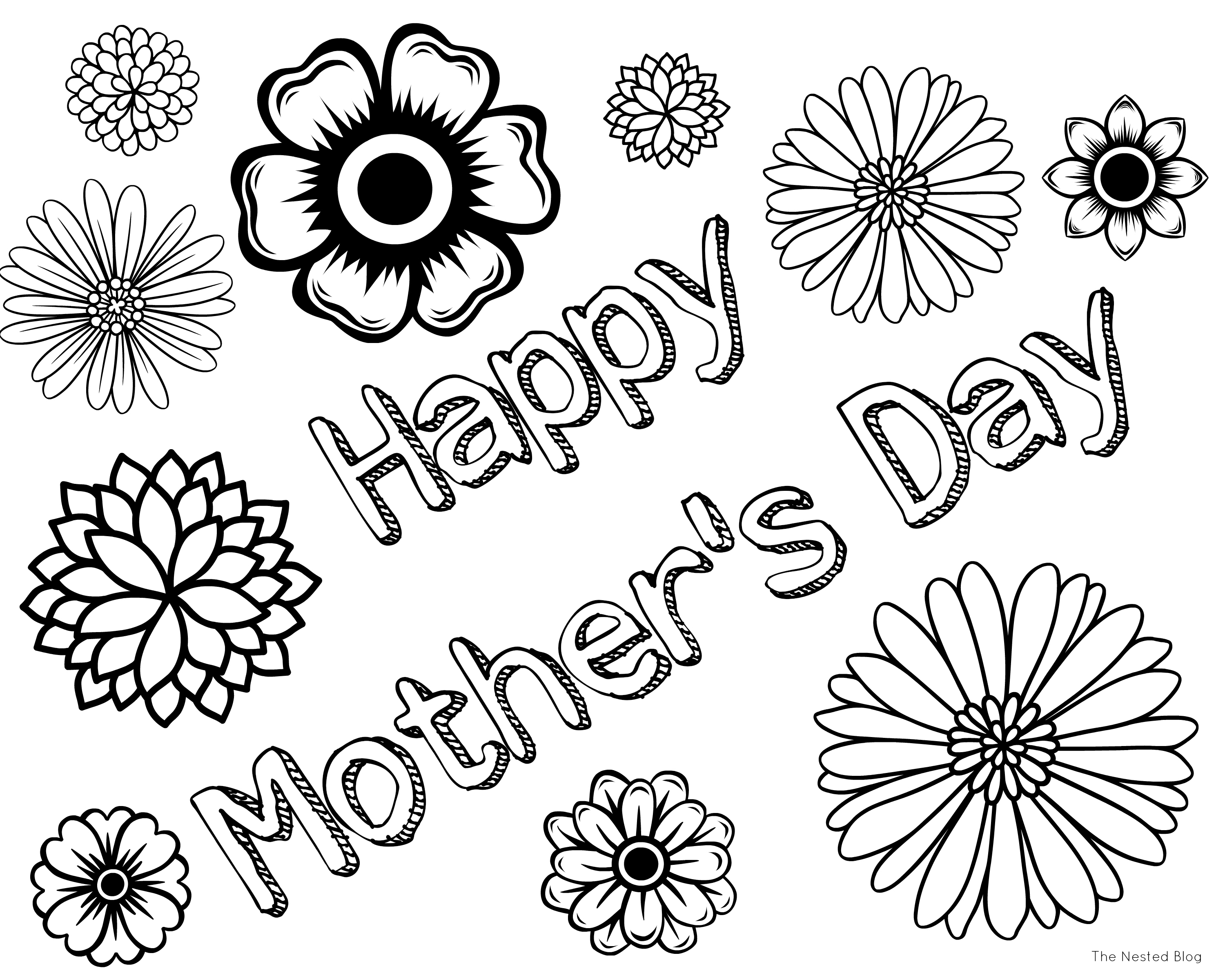 Innovative Happy Mothers Day Coloring Pages For Kids Fabulous Page  Collection Of Mother S Day Printable