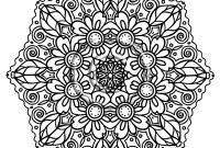 Abstract Coloring Pages Online - Intricate Mandala Coloring Pages Download