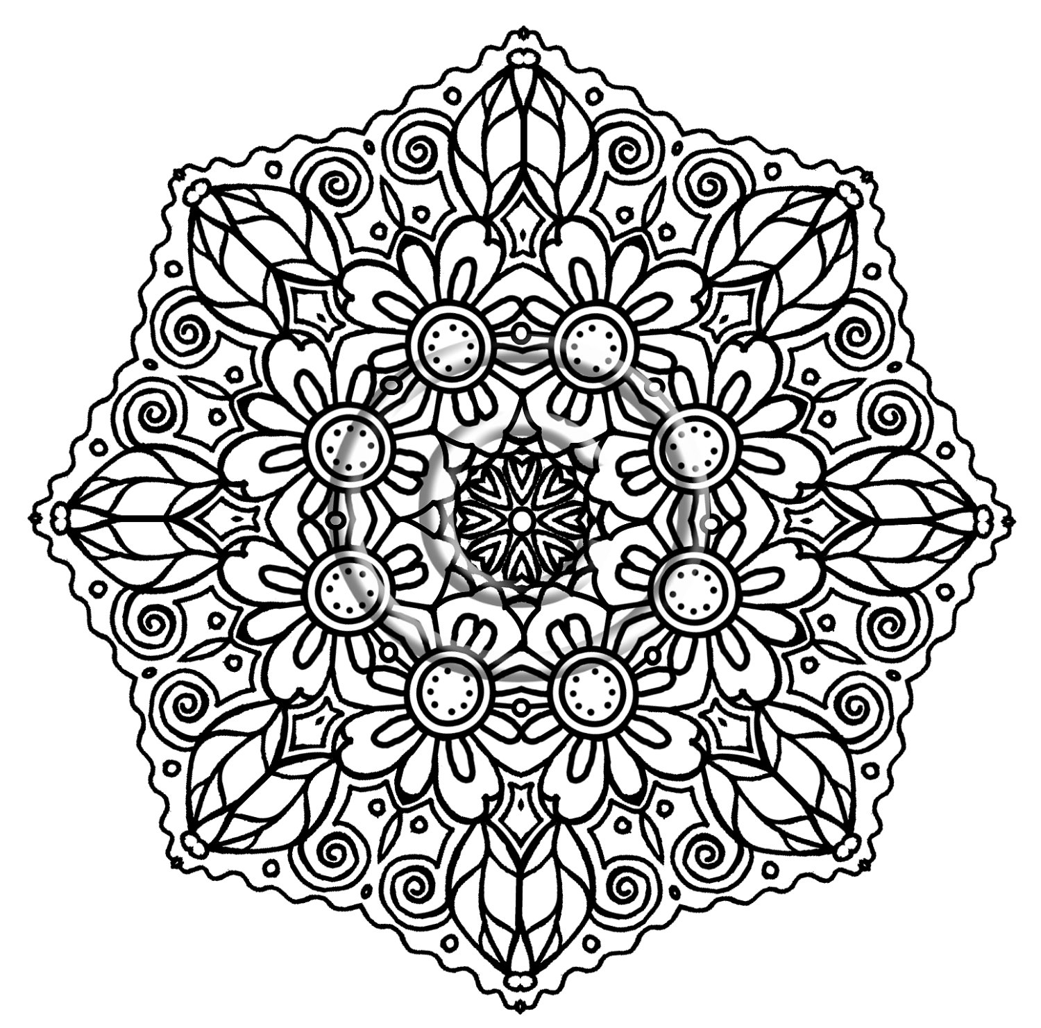 Intricate Mandala Coloring Pages Download