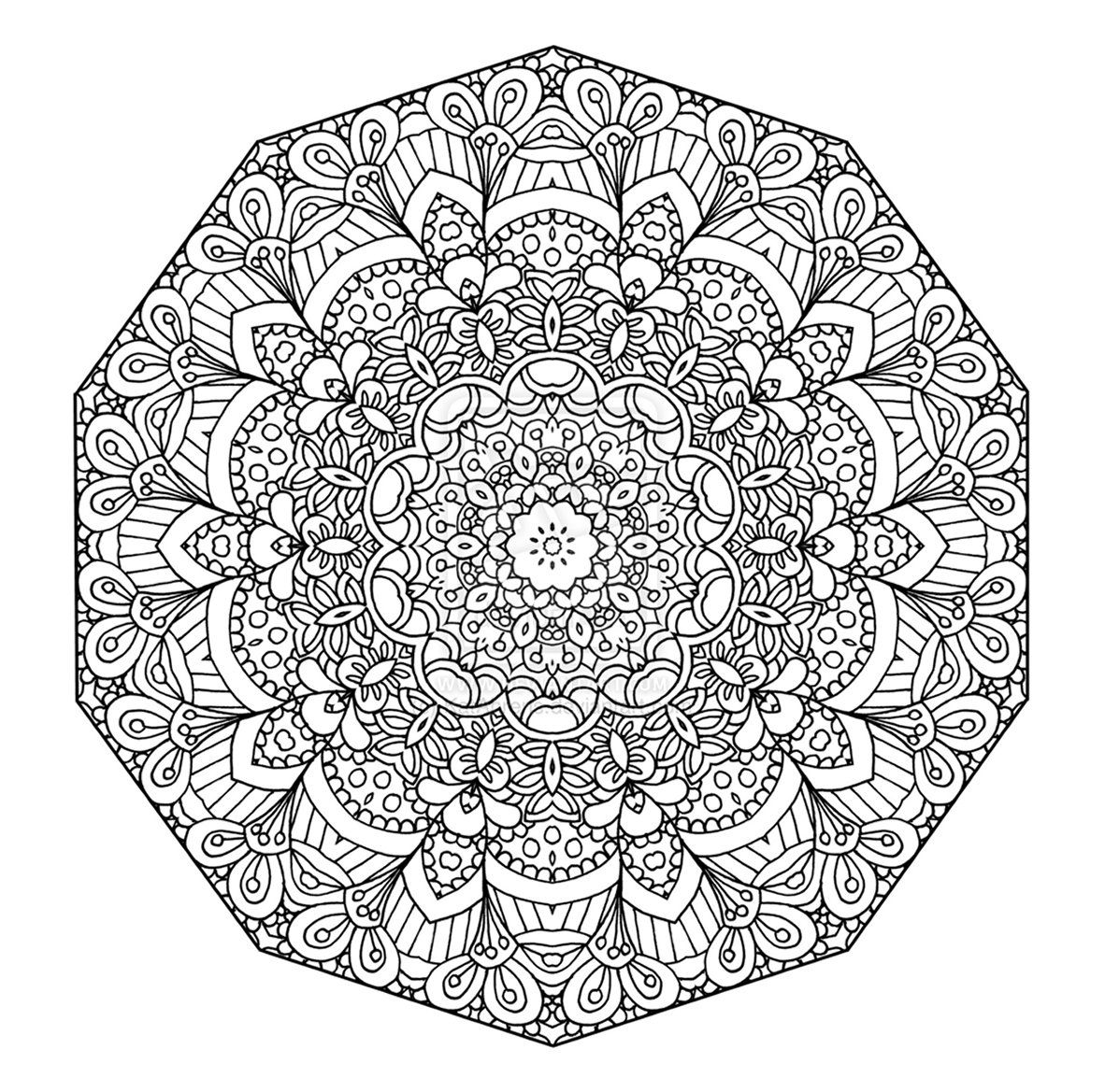 Intricate Mandala Coloring Pages Printable Plex to Print Of Modern Intricate Mandala Coloring Pages Coloring for Good Mandala to Print