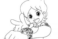 Yo Kai Watch Coloring Pages - Kai Watch Nate is About to Activate the Yo Kai Watch Printable