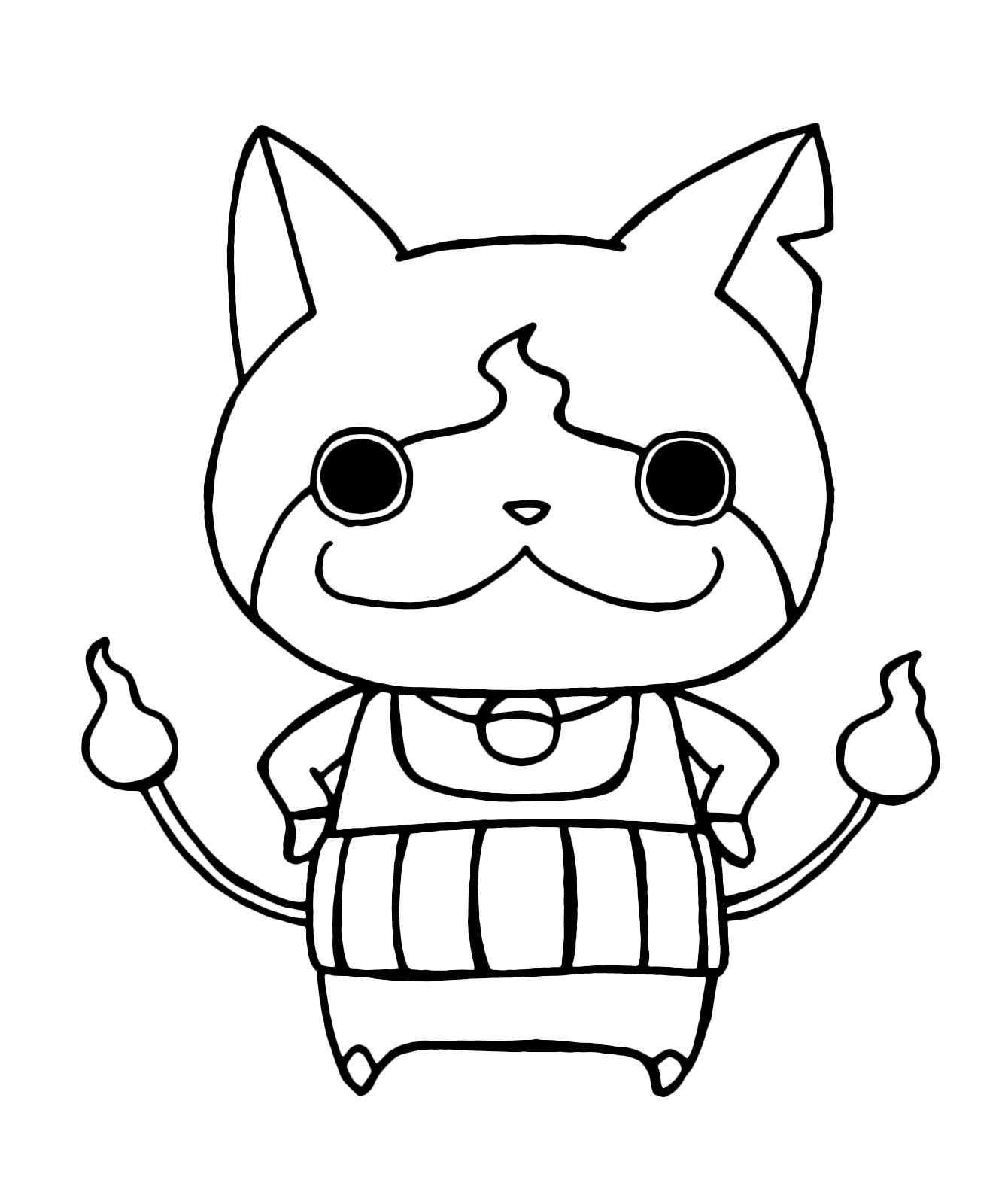 Kai Watch Yo Kai Jibanyan with His Arms On His Hips Download Of Yo Kai Watch Coloring Pages to Print to Print