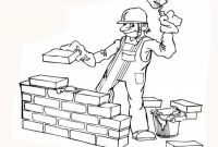 Wall Coloring Pages - Kids Construction Worker Coloring Page Fresh at Painting Free Collection