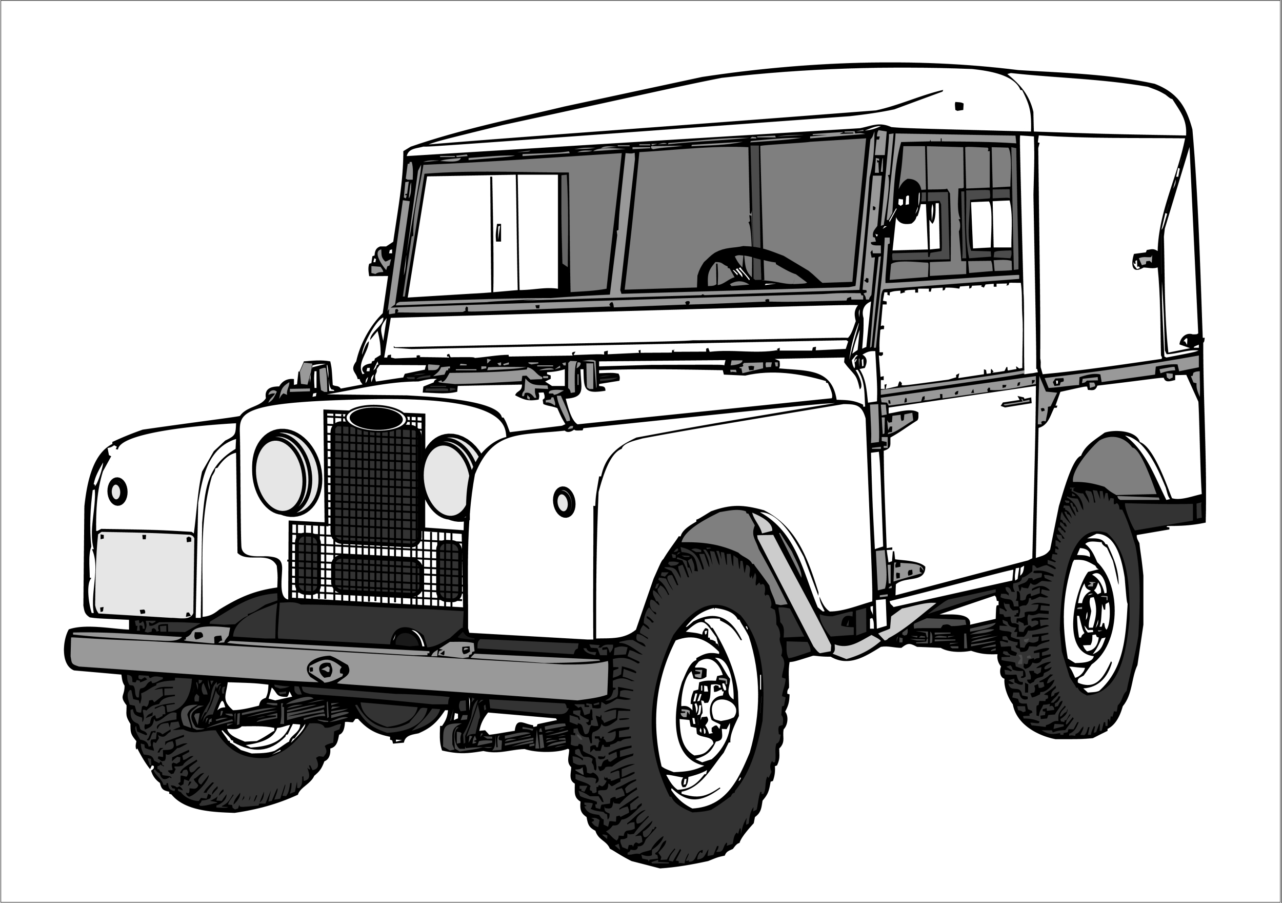 Land Rover Coloring Pages Gallery 16a - Free For Children