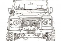 Land Rover Coloring Pages - Land Rover Defender 90 Ink Drawing Collection
