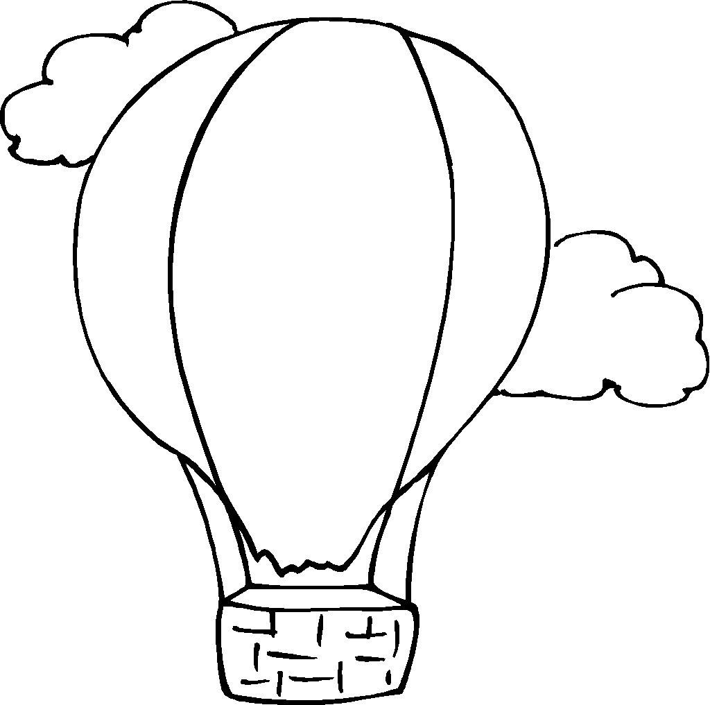 Latest Hot Air Balloons to Color B Unknown Gallery Of Hot Air Balloon Coloring Page Collection