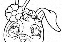 Coloring Pages Of A Rabbit - Littlest Pet Shop Bunny Coloring Pages Download Collection