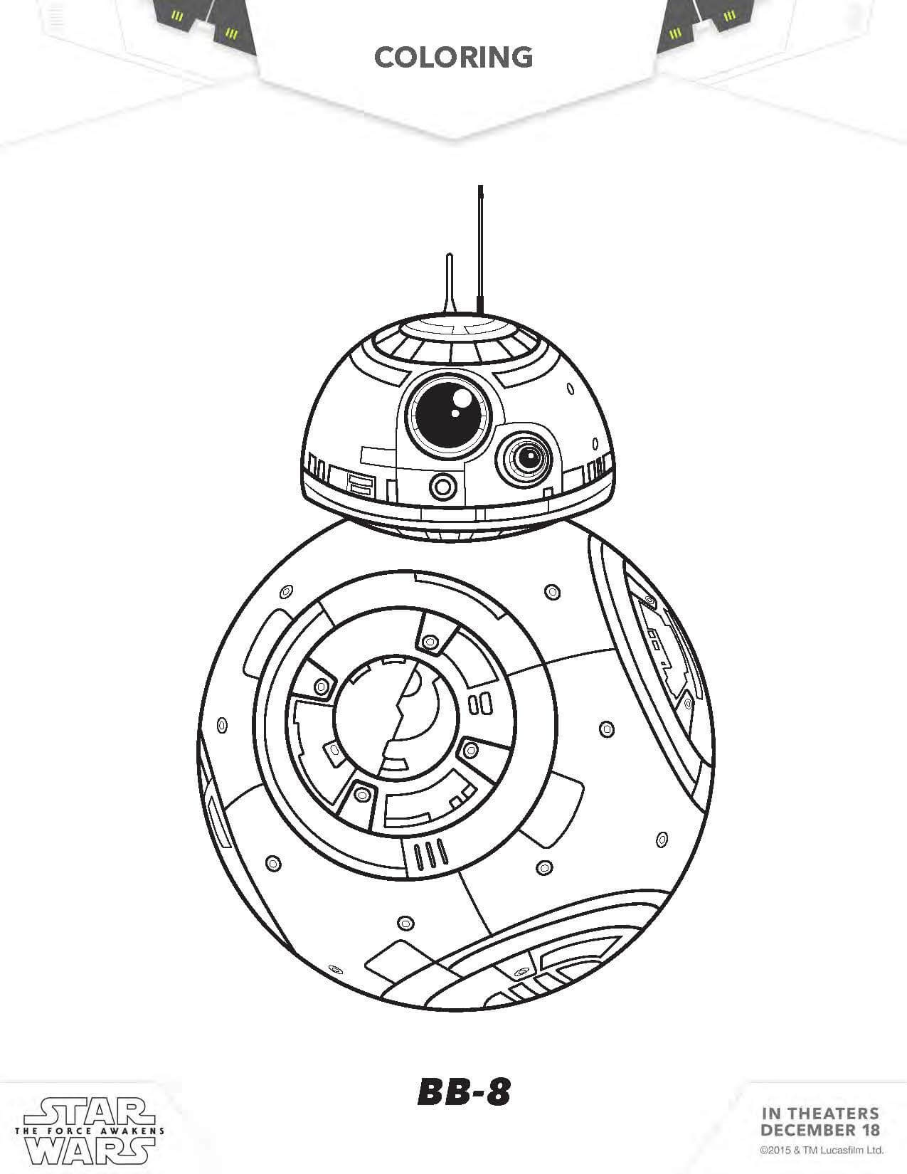 Lovely Sensational Bb8 Coloring Page Star Wars Pages the force Collection Of Fresh Star Wars Coloring Pages to Print