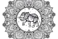 Elephant Mandala Coloring Pages - Mandala Elephant 123rf Mandalas Coloring Pages for Adults Printable