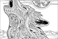 Wolf Coloring Pages Printable - Mandala Wolf Coloring Pages Free Coloring Library Gallery